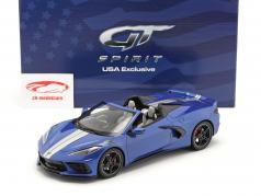 Chevrolet Corvette Stingray Convertible 建设年份 2021 蓝色的 1:18 GT-SPIRIT