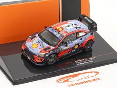 Hyundai i20 Coupe WRC #6 3-й ACI Rallye Monza 2020 Sordo, Del Barrio 1:43 Ixo