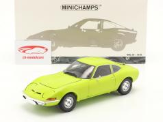Opel GT 建設年 1970 ライトグリーン 1:18 Minichamps