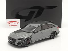 Audi A6 RS6 Avant ABT Año de construcción 2020 gris metálico 1:18 GT-SPIRIT