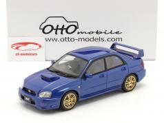 Subaru Impreza WRX STI Ano de construção 2003 azul 1:18 OttOmobile
