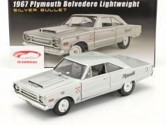 Plymouth Belvedere Lightweight Silver Bullet year 1967 silver 1:18 GMP