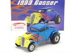 Gasser Flamed Ano de construção 1933 azul / amarelo 1:18 GMP
