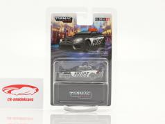 Mercedes-Benz C63 AMG Coupe Black Series Policy black / white 1:64 Tarmac Works