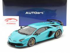 Lamborghini Aventador SVJ 建設年 2019 ターコイズ 1:18 AUTOart
