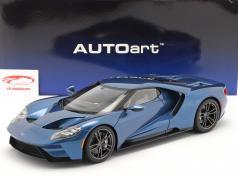 Ford GT 建设年份 2017 液体 蓝色 1:12 AUTOart