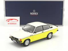 Opel Kadett C GT/E Año de construcción 1977 amarillo / blanco 1:18 Norev
