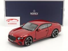 Bentley Continental GT year 2018 candy red 1:18 Norev