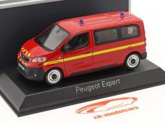 Peugeot Expert Brandweer bouwjaar 2016 rood 1:43 Norev