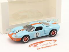 Ford GT40 #9 勝者 24h LeMans 1968 Jet Car 1:43 Norev