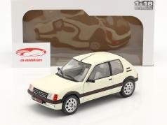 Peugeot 205 GTI 1.9L MK1 Ano de construção 1988 Branco 1:18 Solido