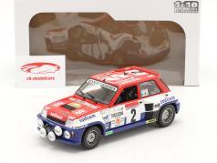 Renault 5 Turbo #2 победитель Rallye D'Antibes 1983 Therier, Vial 1:18 Solido