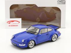Porsche 911 (964) Turbo 建设年份 1990 electric 蓝色 1:18 Solido