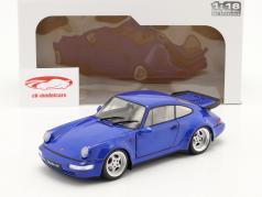 Porsche 911 (964) Turbo bouwjaar 1990 electric blauw 1:18 Solido