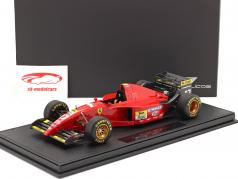 Jean Alesi Ferrari 412T2 #27 Fórmula 1 1995 com Mostruário 1:18 GP Replicas