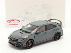 Honda Civic Type-R 建设年份 2020 灰色的 1:18 LCD Models