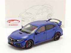 Honda Civic Type-R Ano de construção 2020 azul 1:18 LCD Models
