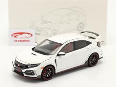 Honda Civic Type-R Año de construcción 2020 blanco 1:18 LCD Models