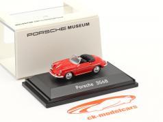 Porsche 356B 敞篷车 红色的 1:87 Welly