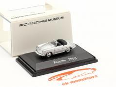 Porsche 356B Cabrio zilver 1:87 Welly