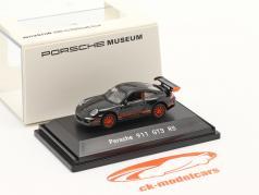 Porsche 911 (997) GT3 RS 黑色的 1:87 Welly