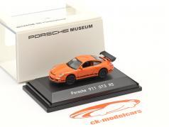 Porsche 911 (997) GT3 RS 橘子 1:87 Welly