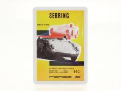 Porsche 金属のポストカード: Porsche 550 Spyder Sebring
