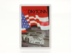 Porsche 金属のポストカード: 国旗 24h Daytona 1977