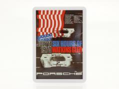 Porsche Cartolina di metallo: 6h Watkins Glen 1970