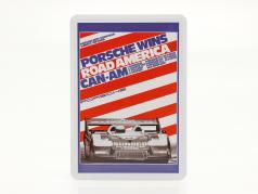 Porsche 金属のポストカード: Can-Am Road America 1973