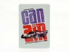 Porsche Metal postcard: Can-Am Road America 1983