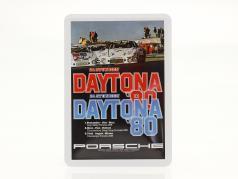 Porsche Metal postkort: 24h Daytona 1980