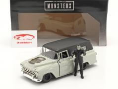 Chevy Suburban 1957 と 形 Frankenstein 1:24 Jada Toys