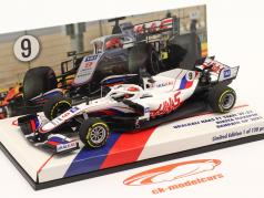 Nikita Mazepin Haas VF-21 #9 Bahrain GP Fórmula 1 2021 1:43 Minichamps