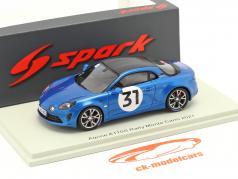 Alpine A110S #31 Shakedown Rallye Monte Carlo 2021 Ocon, Escartefigue 1:43 Spark