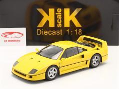 Ferrari F40 Byggeår 1987 gul 1:18 KK-Scale