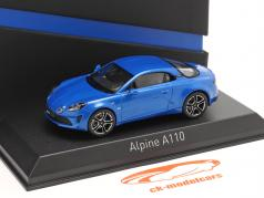 Alpine-Set: Guide Michelin, Charging cable and Alpine A110 2017 blue 1:43 Norev
