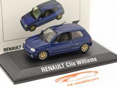 Renault Clio Williams Ano de construção 1996 azul escuro 1:43 Norev
