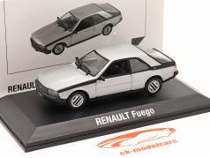 Renault Fuego Ano de construção 1980-1986 prata 1:43 Norev