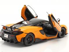 McLaren 600LT Coupe year 2018 orange 1:18 Solido