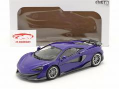 McLaren 600LT Coupe Anno di costruzione 2018 viola metallico 1:18 Solido
