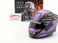 Lewis Hamilton #44 Mercedes-AMG Petronas formule 1 2021 helm 1:2 Bell