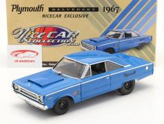 Plymouth Belvedere Hurst year 1967 blue 1:18 GMP