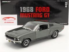 Ford Mustang GT Ano de construção 1968 verde escuro metálico 1:18 Greenlight