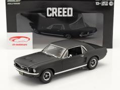 Ford Mustang Coupe 1967 映画 Creed (2015) マット 黒 1:18 Greenlight