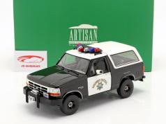 Ford Bronco California Highway Patrol 1995 le noir / blanche 1:18 Greenlight