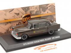 Checker Taxicab Parcel Delivery UPS 加拿大 1975 棕色的 1:43 Greenlight