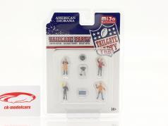 Tailgate Party Conjunto de figuras 1:64 American Diorama