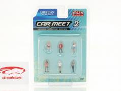 Car Meet Ensemble de figurines #2 1:64 American Diorama