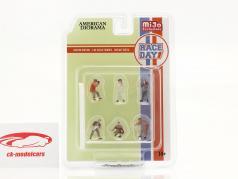 Race Day Ensemble de figurines 1:64 American Diorama